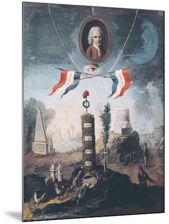 Allegory of the Revolution-Nicolas Henri Jeaurat de Bertry-Mounted Art Print