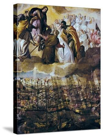 Allegory of the Battle of Lepanto-Paolo Veronese-Stretched Canvas Print