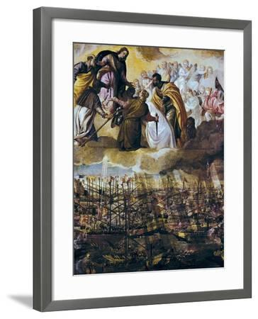 Allegory of the Battle of Lepanto-Paolo Veronese-Framed Art Print