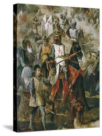 Battle of Las Navas De Tolosa-Francisco De Paula Van Halen-Stretched Canvas Print