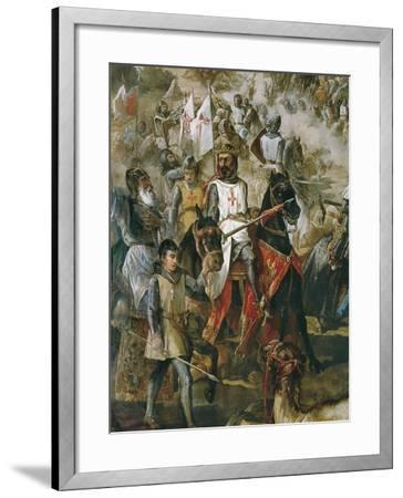 Battle of Las Navas De Tolosa-Francisco De Paula Van Halen-Framed Art Print