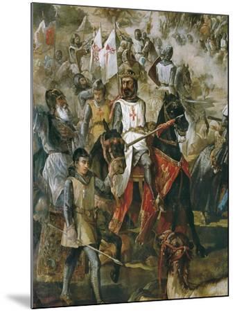 Battle of Las Navas De Tolosa-Francisco De Paula Van Halen-Mounted Art Print
