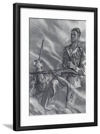 Spanish Civil War-Carlos Saenz de Tejada-Framed Art Print