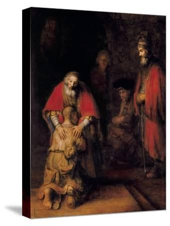 Return of the Prodigal Son-Rembrandt van Rijn-Stretched Canvas Print