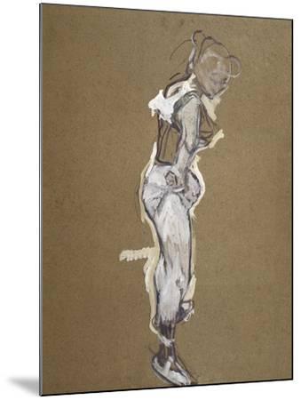 Trapeze Artist Dressing-Henri de Toulouse-Lautrec-Mounted Art Print