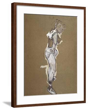 Trapeze Artist Dressing-Henri de Toulouse-Lautrec-Framed Art Print