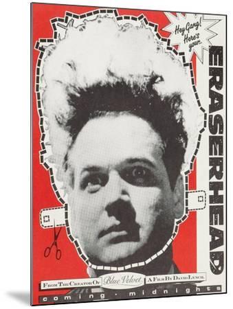 Eraserhead--Mounted Art Print