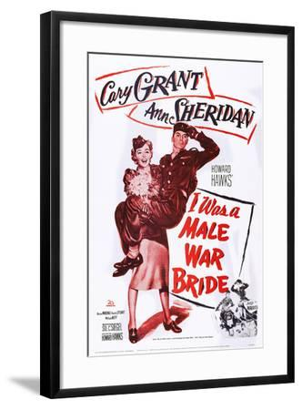 I Was a Male War Bride--Framed Art Print