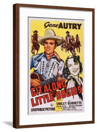 Git Along Little Doggies--Framed Art Print
