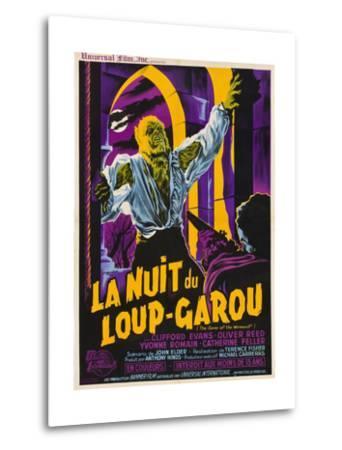 The Curse of the Werewolf (aka La Nuit Du Loup-Garou)--Metal Print
