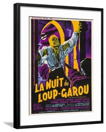 The Curse of the Werewolf (aka La Nuit Du Loup-Garou)--Framed Art Print