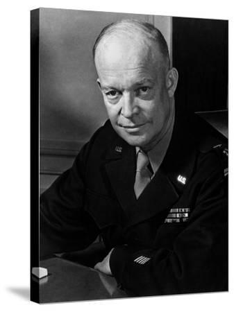 General Dwight Eisenhower--Stretched Canvas Print