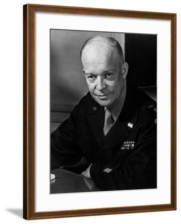 General Dwight Eisenhower--Framed Photo