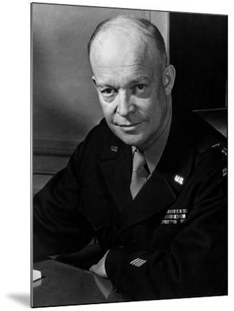 General Dwight Eisenhower--Mounted Photo