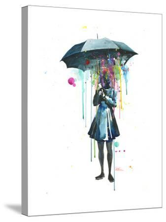 Rainy-Lora Zombie-Stretched Canvas Print