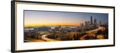 USA, Washington. Seattle Skyline Near the 12th Street Bridge-Gary Luhm-Framed Photographic Print