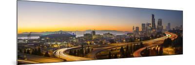 USA, Washington. Seattle Skyline Near the 12th Street Bridge-Gary Luhm-Mounted Photographic Print