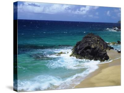 USA, Hawaii, a Wave Breaks on a Beach-Jaynes Gallery-Stretched Canvas Print