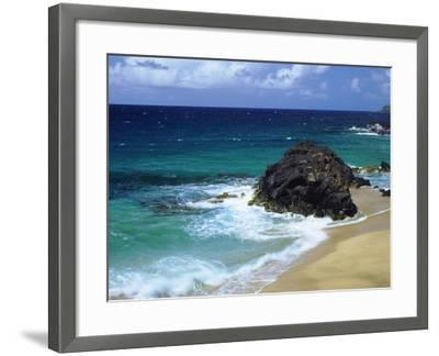 USA, Hawaii, a Wave Breaks on a Beach-Jaynes Gallery-Framed Photographic Print