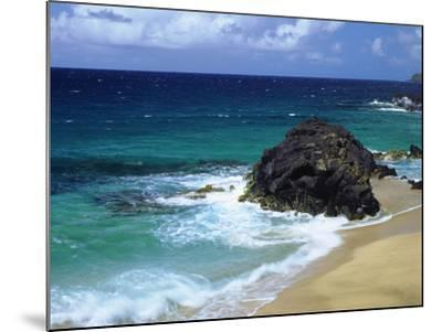 USA, Hawaii, a Wave Breaks on a Beach-Jaynes Gallery-Mounted Photographic Print