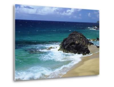USA, Hawaii, a Wave Breaks on a Beach-Jaynes Gallery-Metal Print