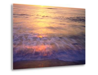 USA, California, San Diego. Sunset Cliffs Beach Reflects the Sunset-Jaynes Gallery-Metal Print