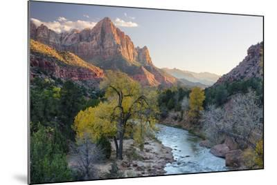USA, Utah, Zion National Park, Virgin River and the Watchman-Jamie & Judy Wild-Mounted Photographic Print