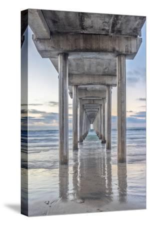 USA, California, La Jolla, Scripps Pier-Rob Tilley-Stretched Canvas Print