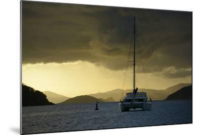 Caribbean, British Virgin Islands, Tortola. Catamaran at Soper's Hole-Kevin Oke-Mounted Photographic Print