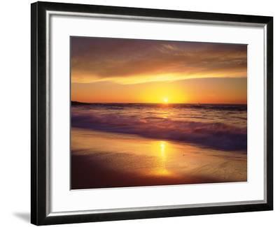 USA, California, San Diego. La Jolla Shores Beach Reflects the Sunset-Jaynes Gallery-Framed Photographic Print