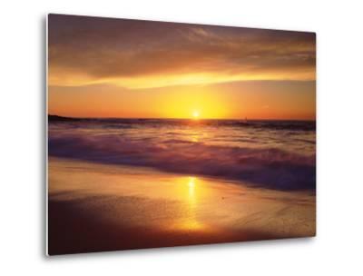 USA, California, San Diego. La Jolla Shores Beach Reflects the Sunset-Jaynes Gallery-Metal Print