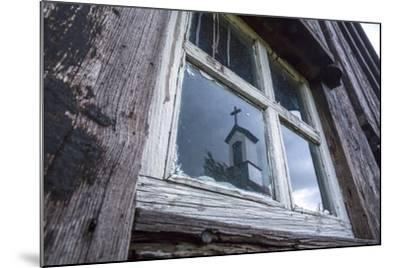 Iceland, Southern Land, Church Reflected in a House Window-Gavriel Jecan-Mounted Photographic Print