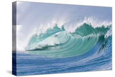 Breaking Wave in Hawaii-Ron Dahlquist-Stretched Canvas Print