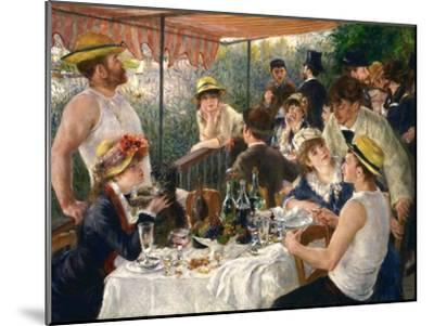 Luncheon of the Boating Party-Pierre-Auguste Renoir-Mounted Giclee Print