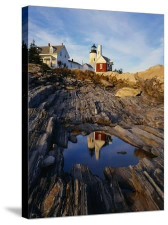 Pemaquid Lighthouse-James Randklev-Stretched Canvas Print