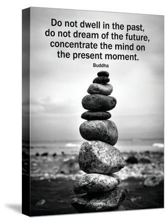 Buddha Focus Quotation Motivational Poster--Stretched Canvas Print