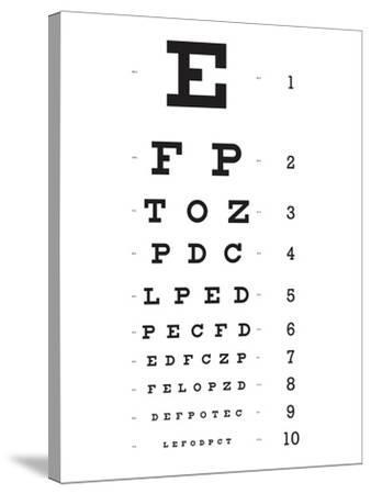 Eye Chart 10-Line Reference Poster--Stretched Canvas Print