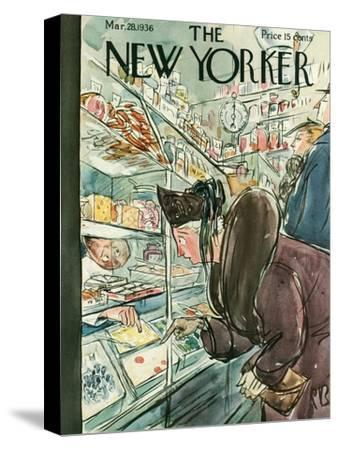 The New Yorker Cover - March 28, 1936-Perry Barlow-Stretched Canvas Print