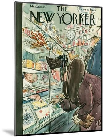 The New Yorker Cover - March 28, 1936-Perry Barlow-Mounted Premium Giclee Print