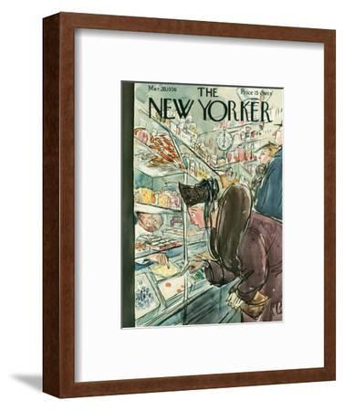 The New Yorker Cover - March 28, 1936-Perry Barlow-Framed Premium Giclee Print