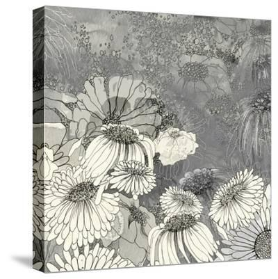 Flowers on Grey II-Ingrid Blixt-Stretched Canvas Print