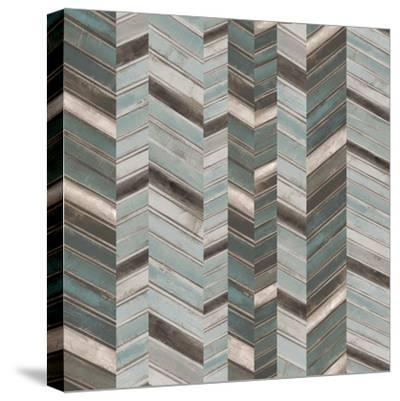 Stacked Chevron II-Jennifer Goldberger-Stretched Canvas Print