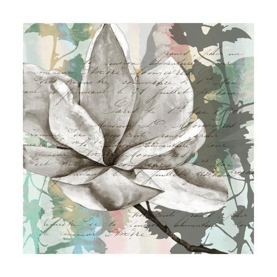 Pastel Magnolias II-Jennifer Goldberger-Art Print
