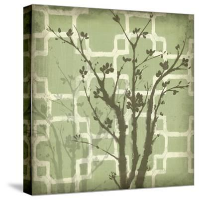 Silhouette and Pattern III-Jennifer Goldberger-Stretched Canvas Print