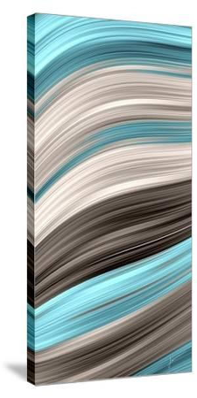 Aqua Sweep I-James Burghardt-Stretched Canvas Print