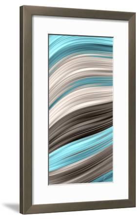 Aqua Sweep I-James Burghardt-Framed Art Print