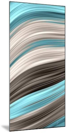 Aqua Sweep I-James Burghardt-Mounted Art Print