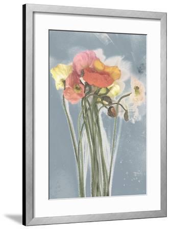 Poppy Spray III-Jennifer Goldberger-Framed Art Print
