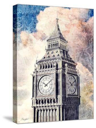 Distressed London-Roozbeh-Stretched Canvas Print