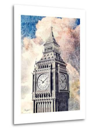 Distressed London-Roozbeh-Metal Print